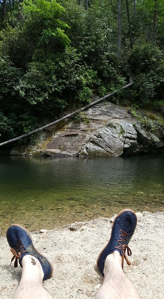 Dan at a swimming hole