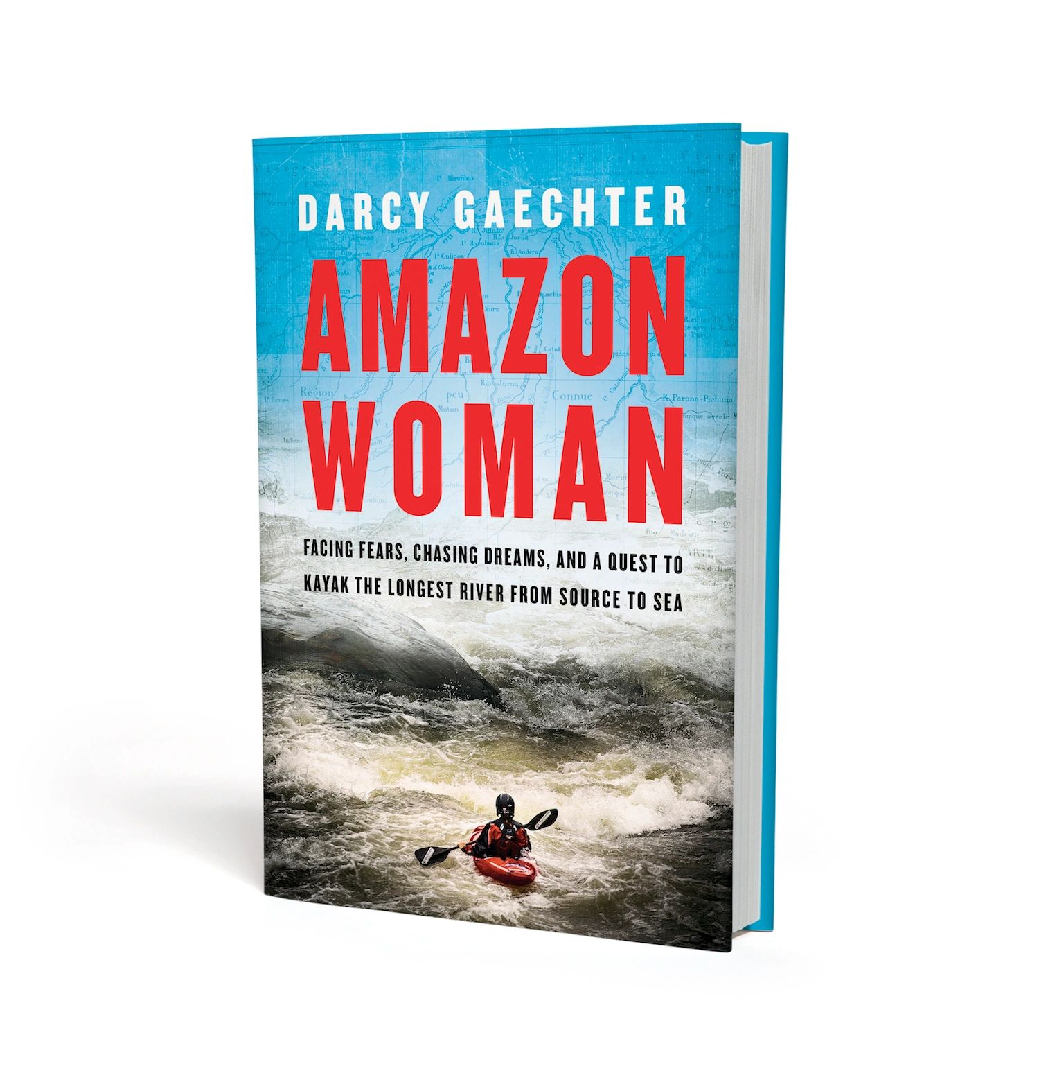 book cover for Amazon Woman - the first on our list of books recommended by an outdoor industry PR agency