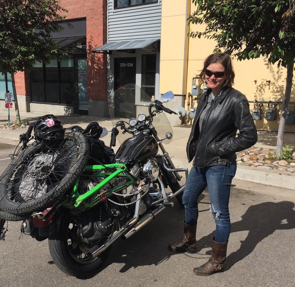 Sarah motorcycle trip