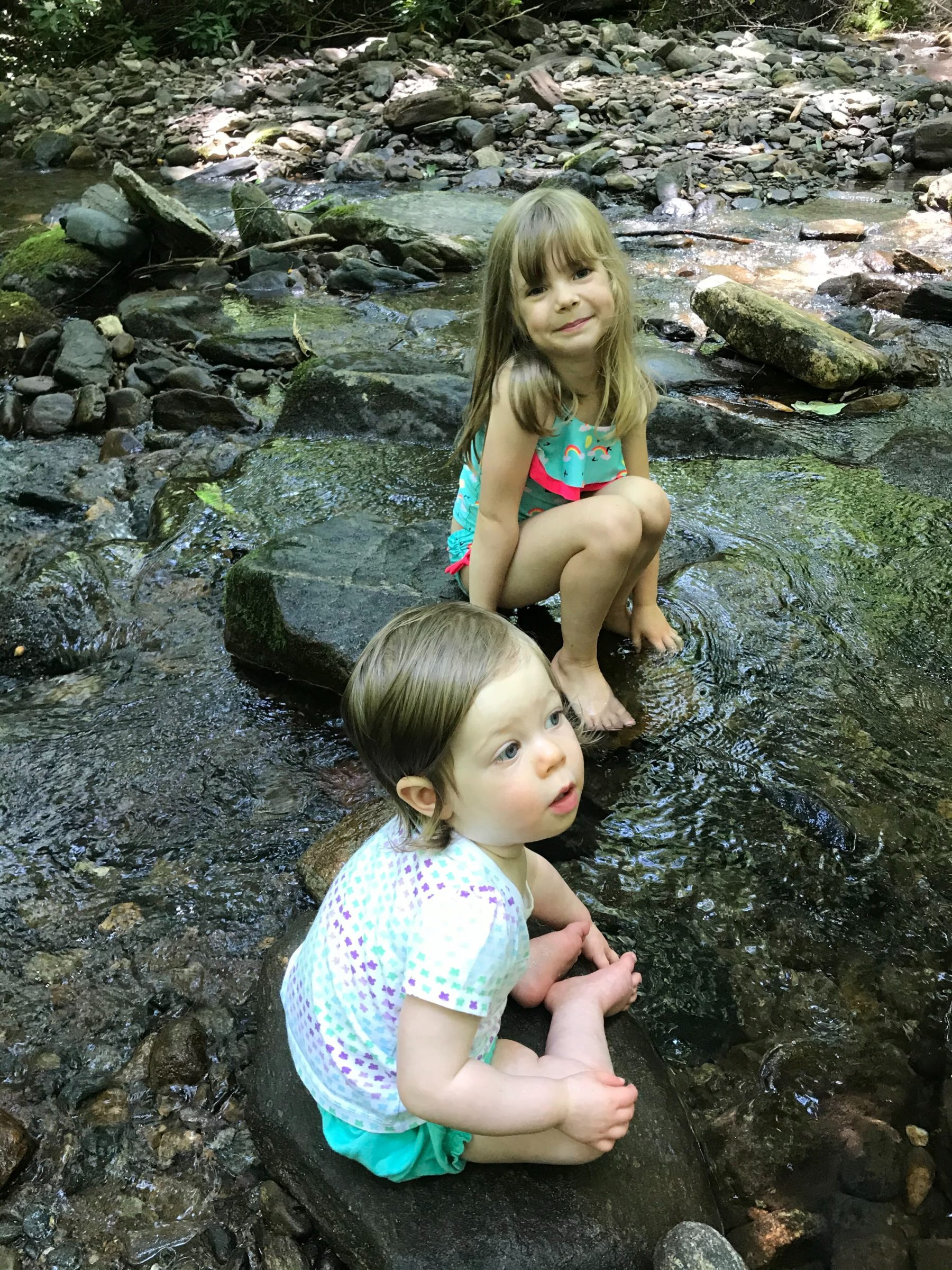 Suz's daughters at swimming hole