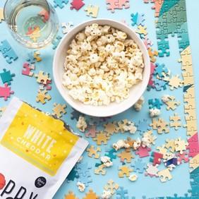 White Cheddar Poppy Popcorn